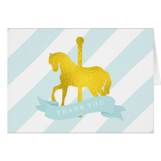 Mint Carousel Horse Birthday Card