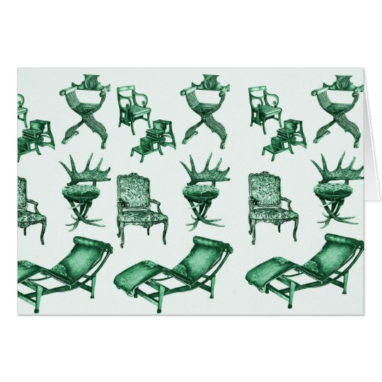 Mint chairs card