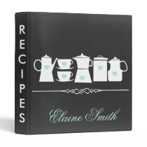 Mint Chalkboard Kitchen Bridal Recipe Folder