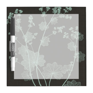 Mint & Charcoal Nature Study I Dry Erase Board