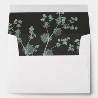 Mint & Charcoal Nature Study I Envelope