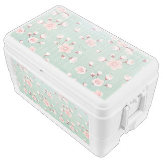 Mint,cherry blossom, spring flower,japanese,sakura chest cooler