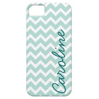 Mint Chevron iPhone Case