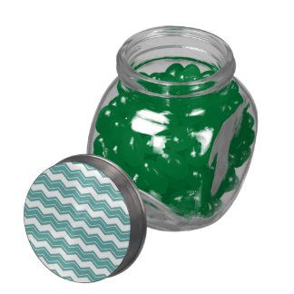Mint Chevron Jelly Belly Candy Jars