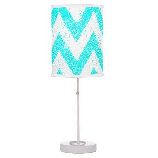 mint chevron lamp