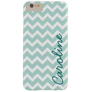 Mint Chevron Monogram Barely There iPhone 6 Plus Case