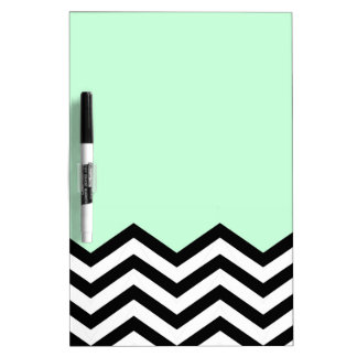 Mint Chevron Piece Dry Erase Board