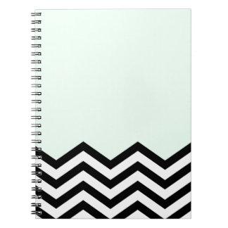 Mint Chevron Piece Note Book