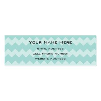 Mint Chevron Skinny Profile Card Business Card Templates