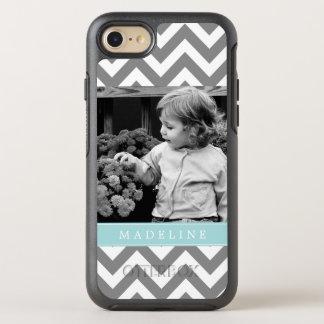 Mint Chevron Stripes Photo Frame OtterBox Symmetry iPhone 8/7 Case