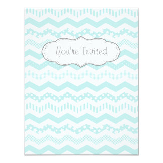 Mint Chevron with a twist Card