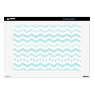 """Mint Chevron with a twist Decals For 15"""" Laptops"""