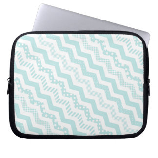 Mint Chevron with a twist Laptop Sleeve