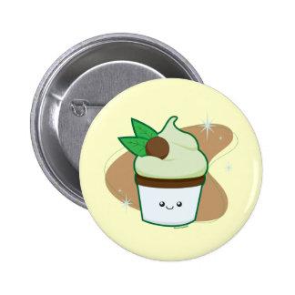 Mint Chip Cupcake Pins