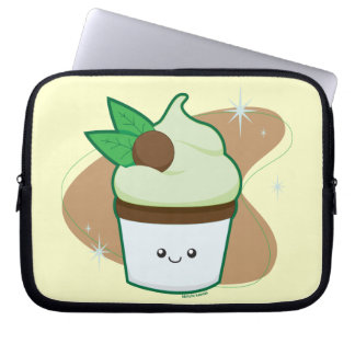 Mint Chip Cupcake Laptop Computer Sleeve