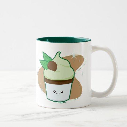 Mint Chip Cupcake Two-Tone Coffee Mug