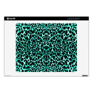 Mint Chip Leopard Print Skin For Laptop