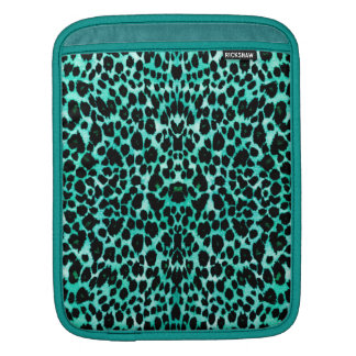 Mint Chip Leopard Print Sleeve For iPads