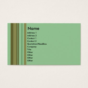 Professional Business Mint Choc Stripe business cards