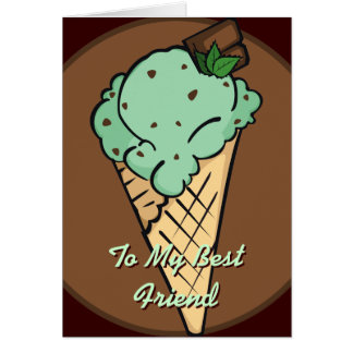 Mint Choco-Chip Ice Cream Card