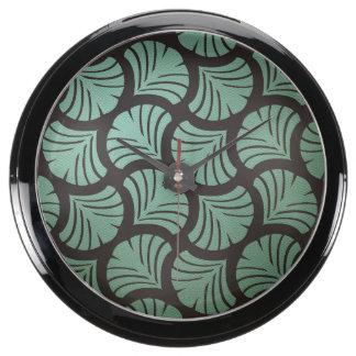Mint Chocolate Aqua Clocks