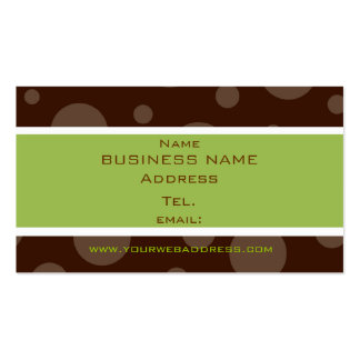 mint chocolate bubble profile cards Double-Sided standard business cards (Pack of 100)