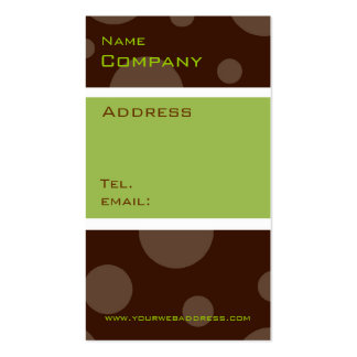 mint chocolate bubble, vertical profile cards Double-Sided standard business cards (Pack of 100)