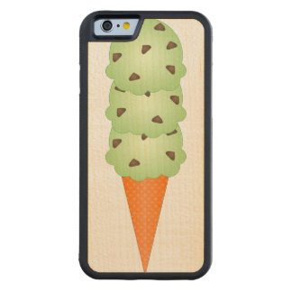 Mint Chocolate Chip Carved Maple iPhone 6 Bumper Case