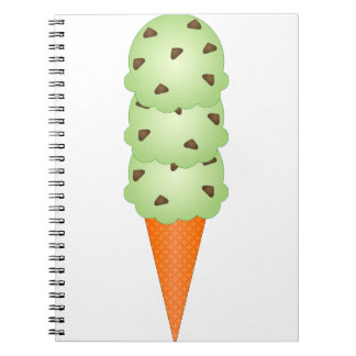 Mint Chocolate Chip Spiral Note Book