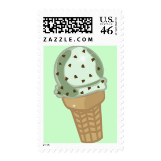 Mint Chocolate Chip Postage Stamps