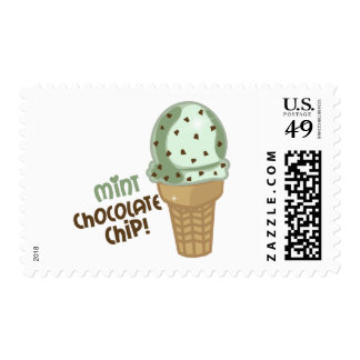 Mint Chocolate Chip with text Postage