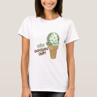 Mint Chocolate Chip with text T-Shirt