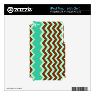 Mint Chocolate Chip Zigzags iPod Touch 4G Decals