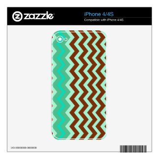 Mint Chocolate Chip Zigzags Skin For The iPhone 4S