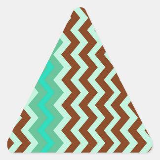 Mint Chocolate Chip Zigzags Triangle Sticker