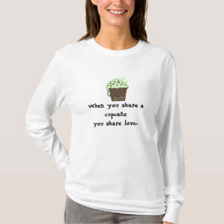 Mint Chocolate Cupcake with Saying T-Shirt