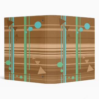 Mint Chocolate Geometry Binders