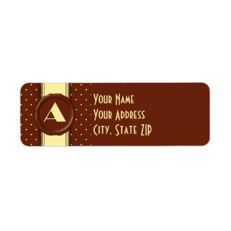 Mint Chocolate Polka Dot Monogram - A Label