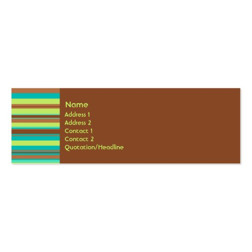 Mint Chocolate Profile Card Business Cards