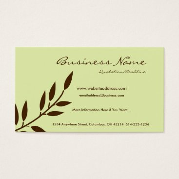 Professional Business Mint Chocolate Vine Business Cards