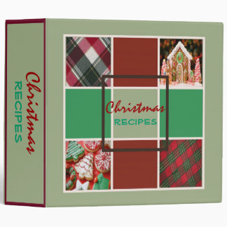 Mint Christmas Recipes Binder