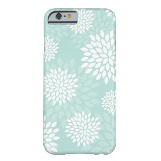 Mint Chrysanthemums Floral Pattern Barely There iPhone 6 Case