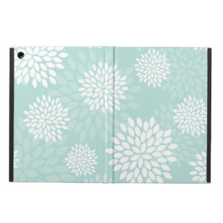 Mint Chrysanthemums Floral Pattern Cover For iPad Air