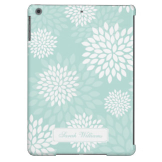 Mint Chrysanthemums Floral Pattern iPad Air Cases