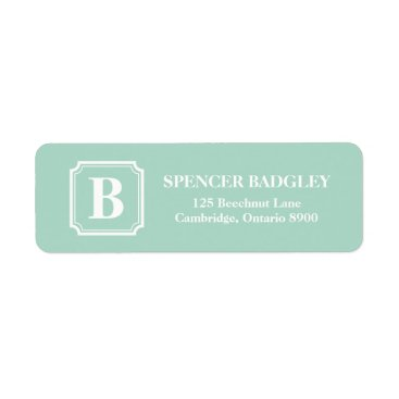 Professional Business Mint Classic Monogram Address Labels