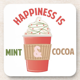 Mint Cocoa Happiness Beverage Coaster