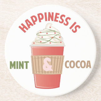 Mint Cocoa Happiness Drink Coaster