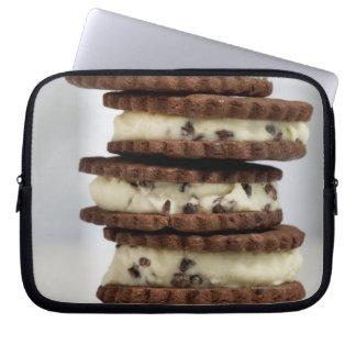 mint cocoa nib ice cream with chocolate cookies laptop sleeve
