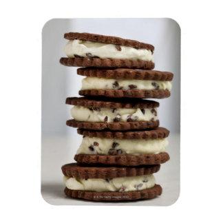 mint cocoa nib ice cream with chocolate cookies rectangular photo magnet