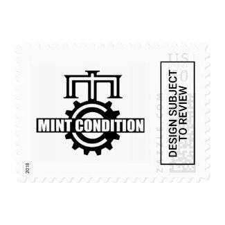 Mint Condition Cog Logo Stamp